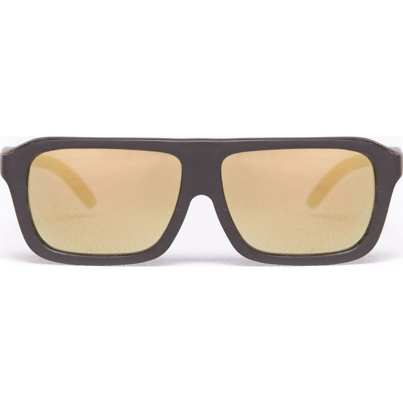 Proof Bud Wood Ebony Gold Sunglasses | Gold Lens