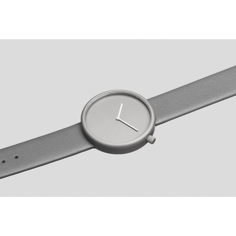 bulbul Ore 04 Men's Watch | Titanium Coated Steel on Grey Italian Leather