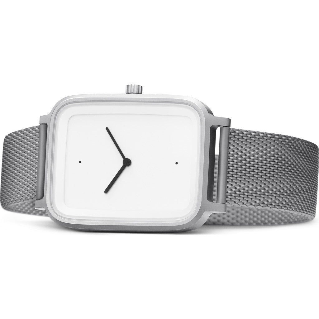 bulbul Oblong 06 Watch | Matte Steel on Milanese Mesh OB06