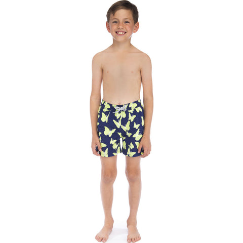 Tom & Teddy Boy's Butterflies Swim Trunk | Pastel Green / 11-12