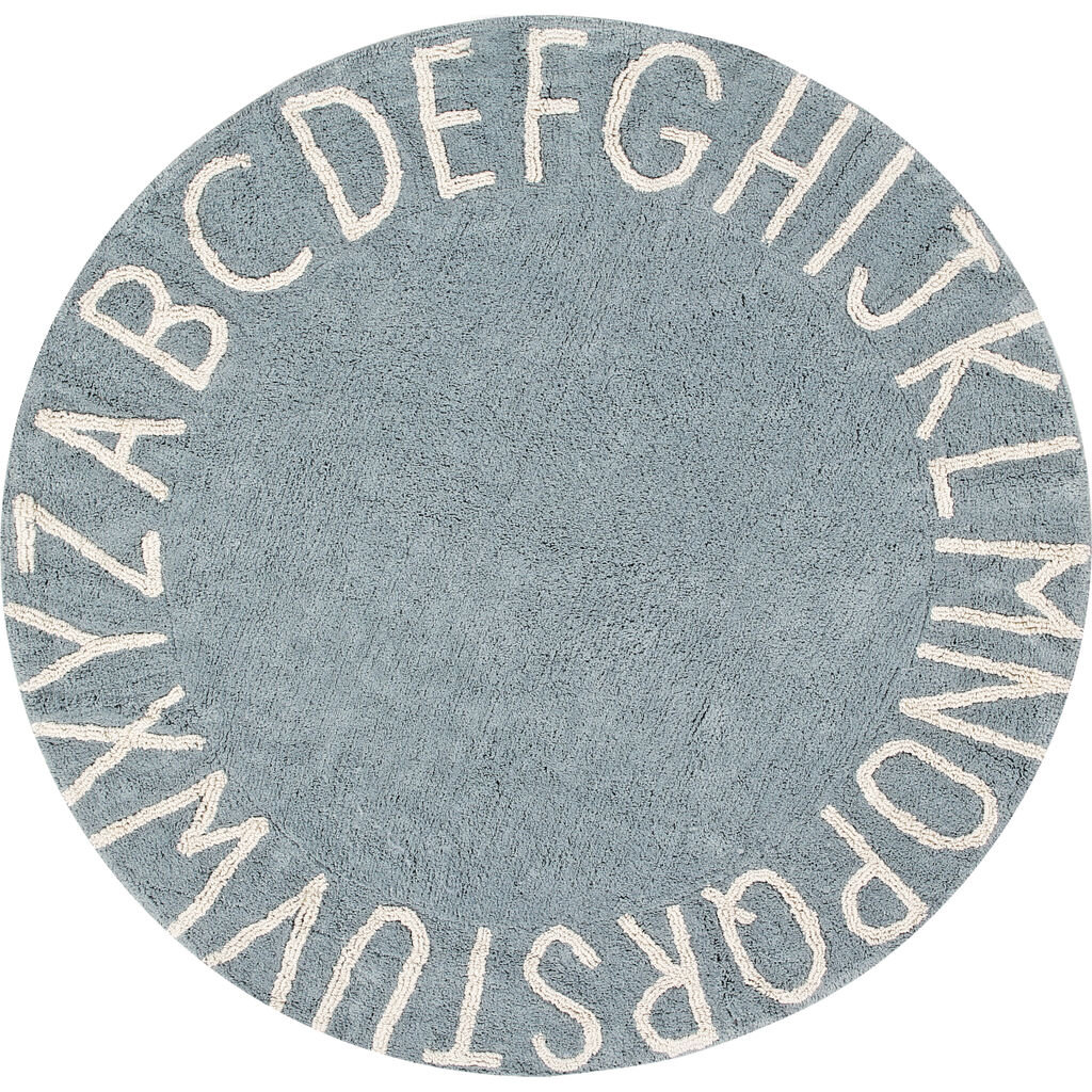 Lorena Canals Round ABC Washable Rug