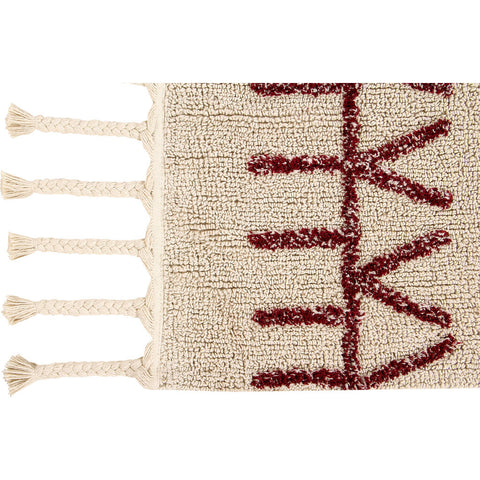 Lorena Canals Bereber Washable Rug | Burgundy