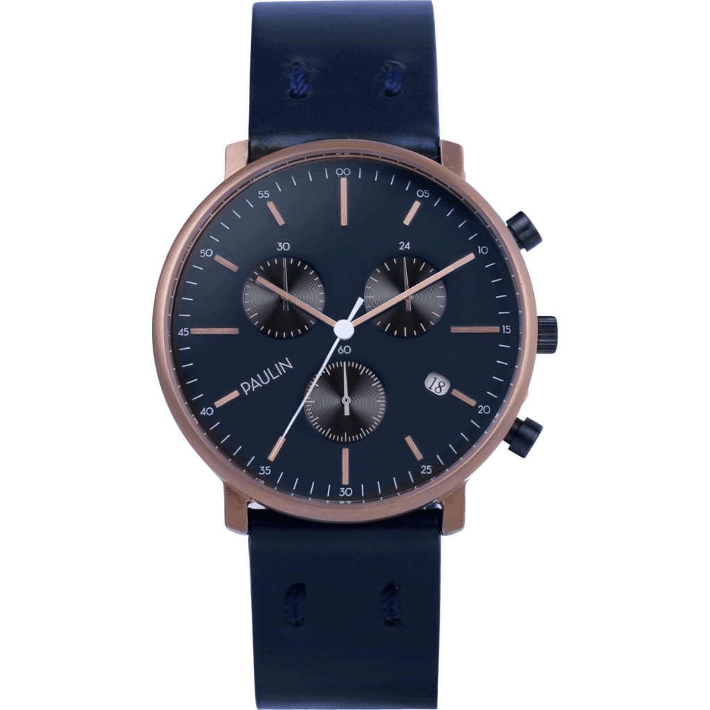 Paulin C201 Chronograph A Watch | Navy C201A