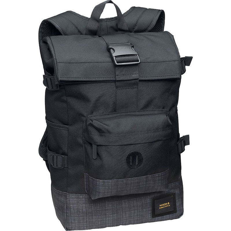 Nixon Swamis Rolltop Backpack | Black / Black Wash