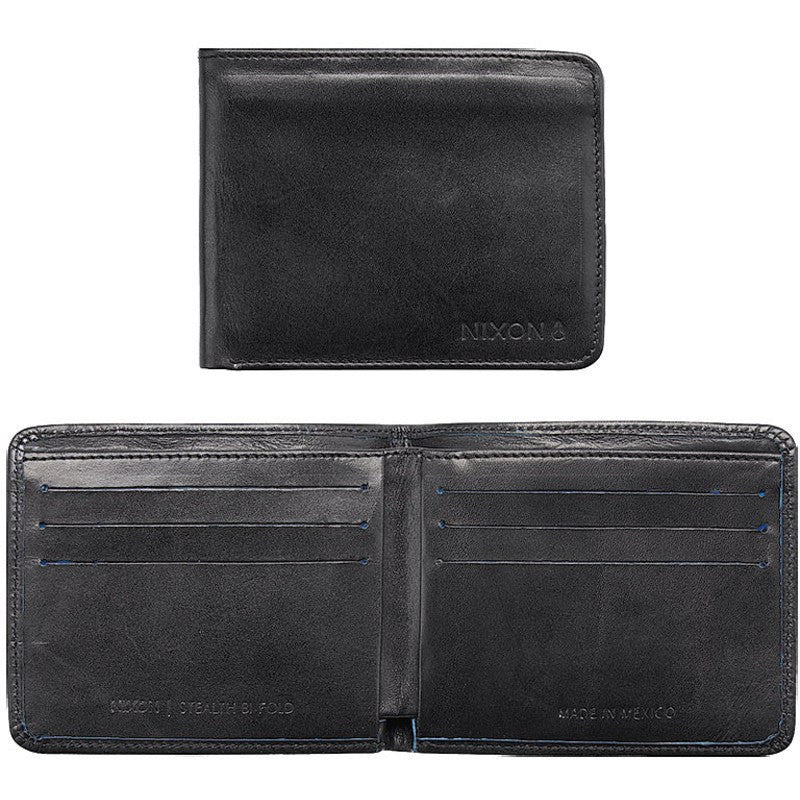 Nixon Stealth Slim Bi-Fold Wallet | Black