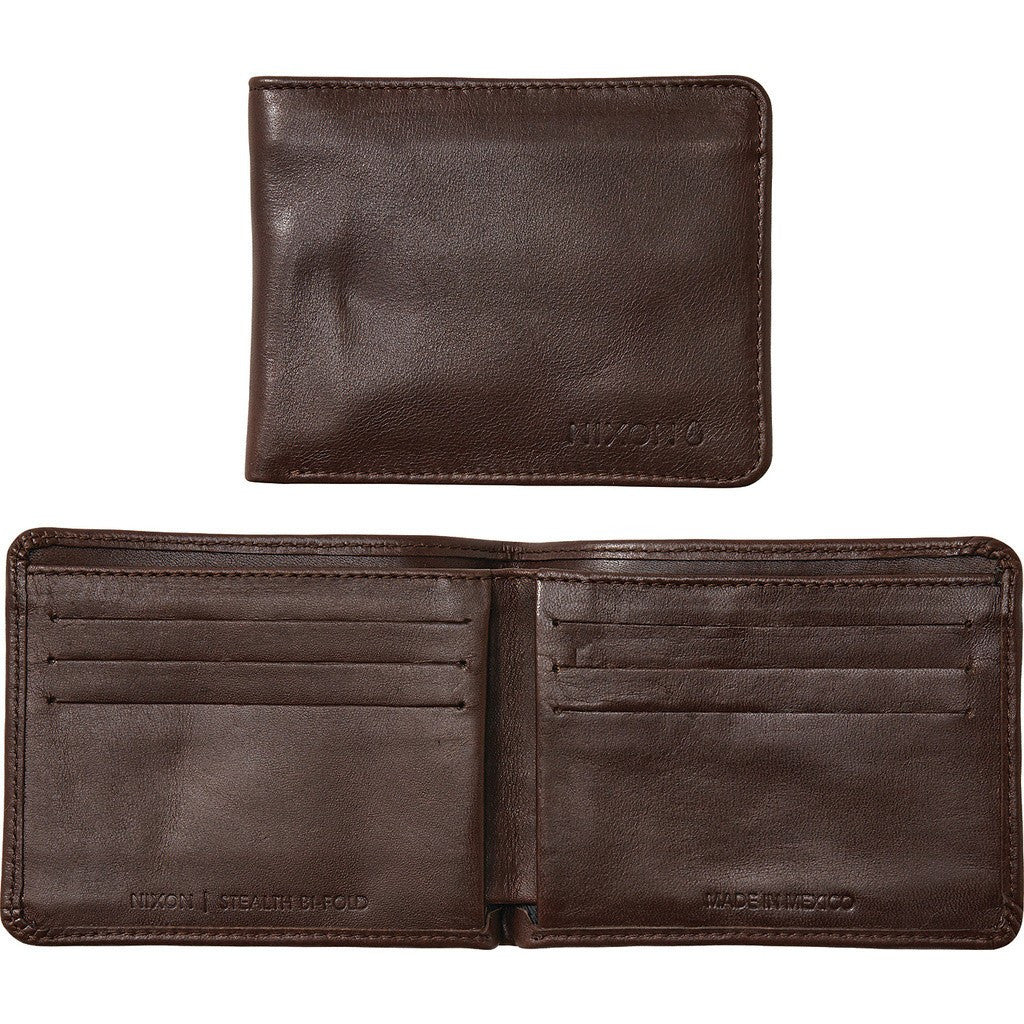 Nixon Stealth Slim Bi-Fold Wallet | Dark Brown C2345-1445-00