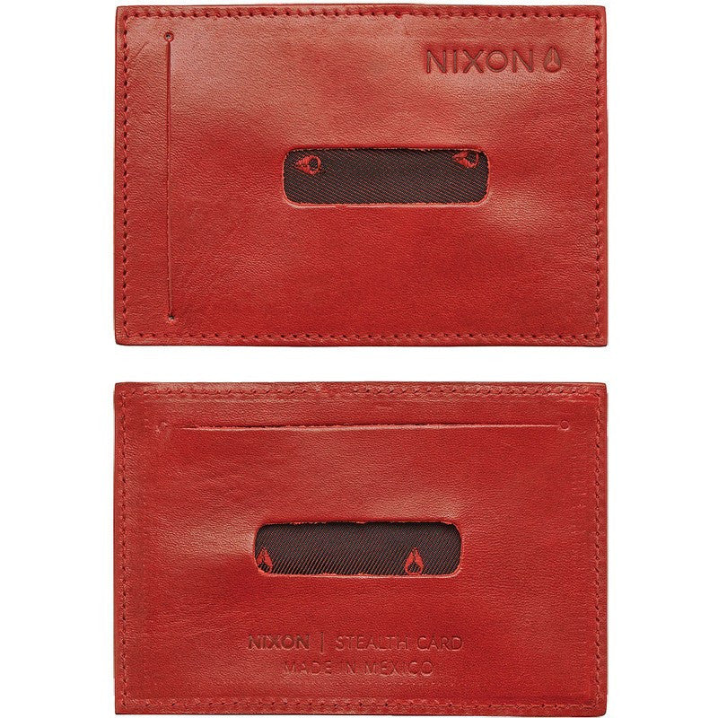 Nixon Stealth Slim Card Wallet | Red