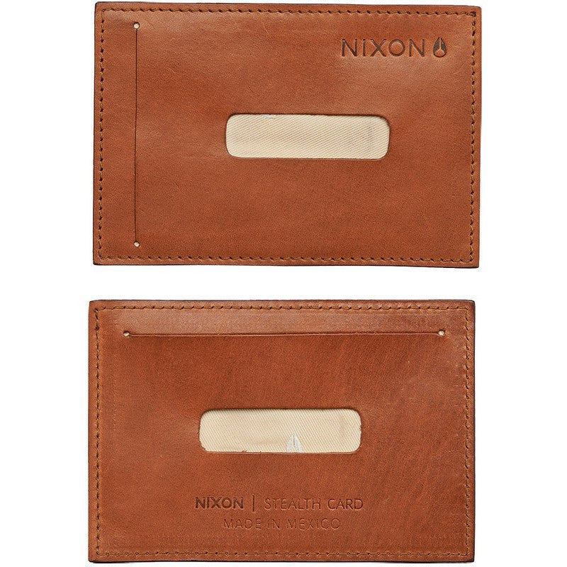 Nixon Stealth Slim Card Wallet | Saddle