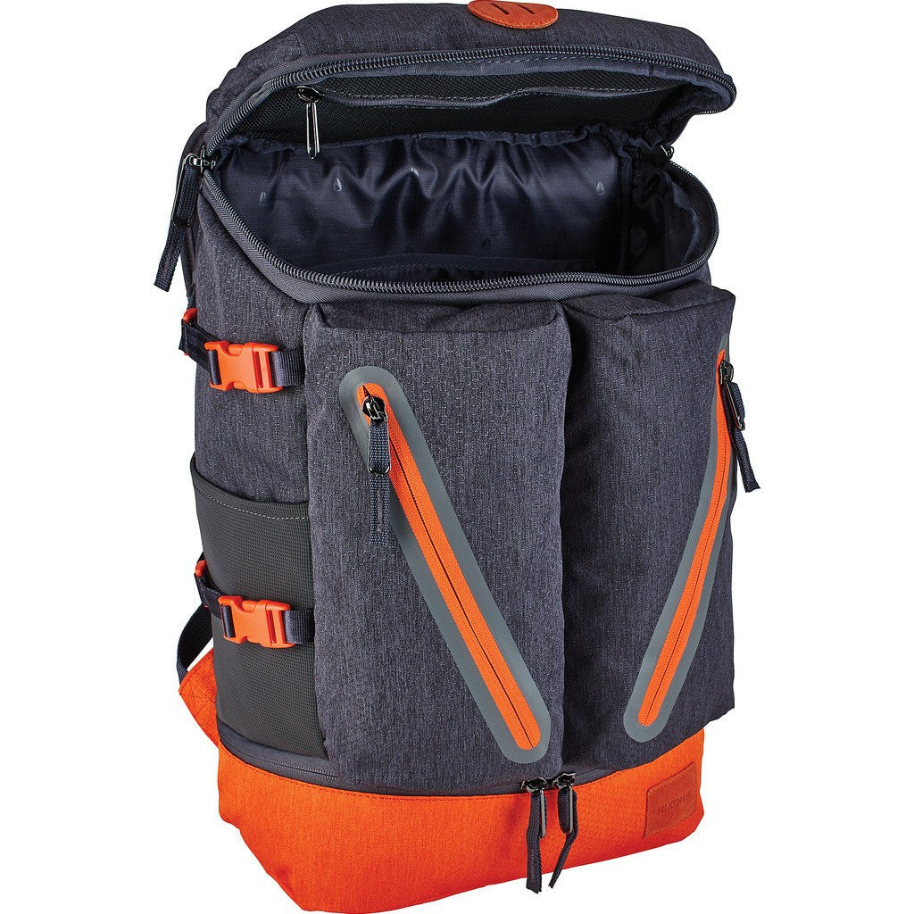 Nixon Scripps Backpack | Dark Gray/Orange