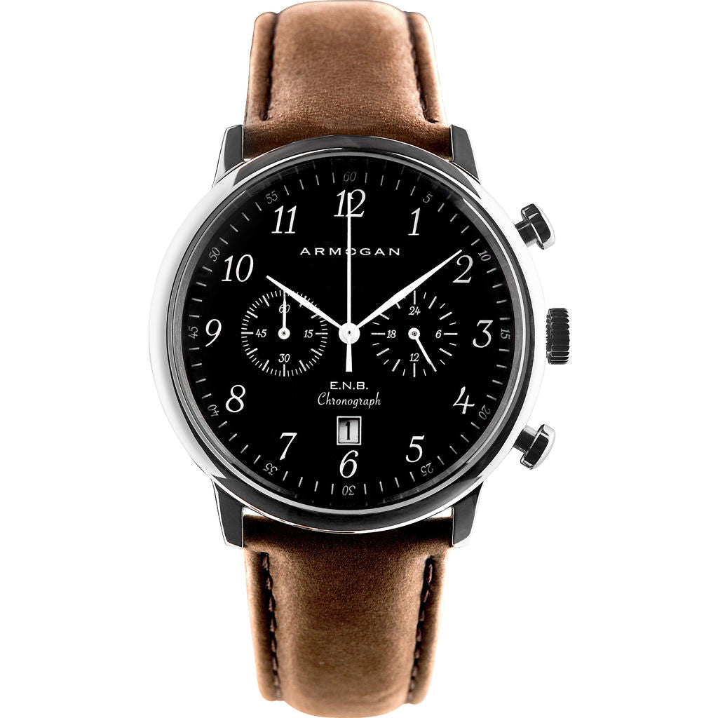Armogan E.N.B C31 Watch | Silver Black ENS22N7W9