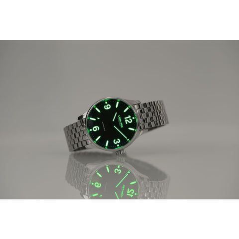 Lum-Tec C6 Automatic Watch | Polished Steel Strap