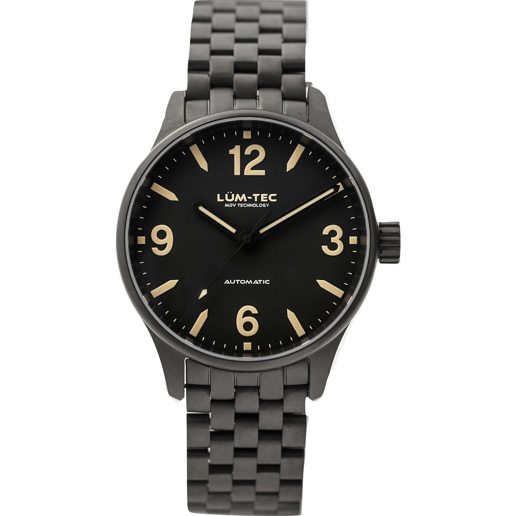 Lum-Tec C7 Automatic Watch | Charcoal Steel Strap