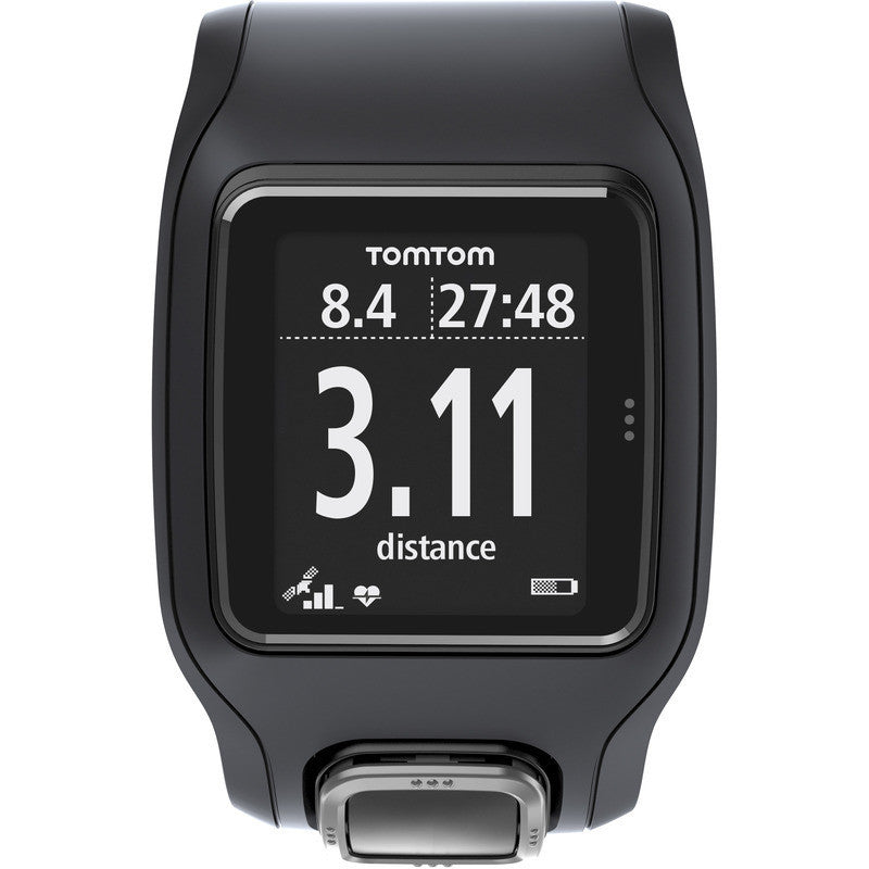 TomTom Runner Cardio GPS Watch Watch Black/Black | 1RA000102