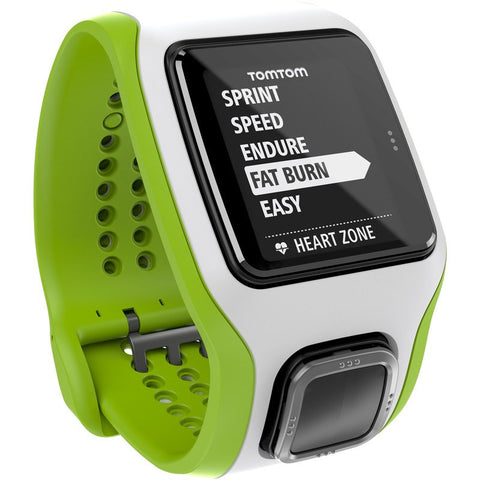 TomTom Multi-Sport Cardio GPS Watch Green/White | 1RH000104