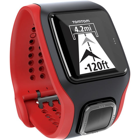 TomTom Multi-Sport Cardio GPS Watch Black/Red + Cycling | 1RH000102