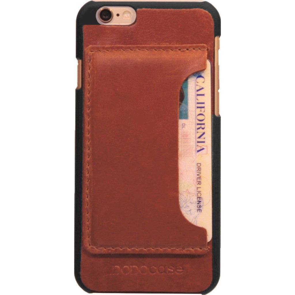 DODOcase Leather Card Case for iPhone 6/6s | Chestnut LE102002