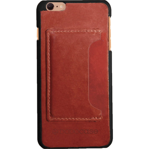 DODOcase Leather Card Case for iPhone 6/6s Plus | Chestnut LE102004
