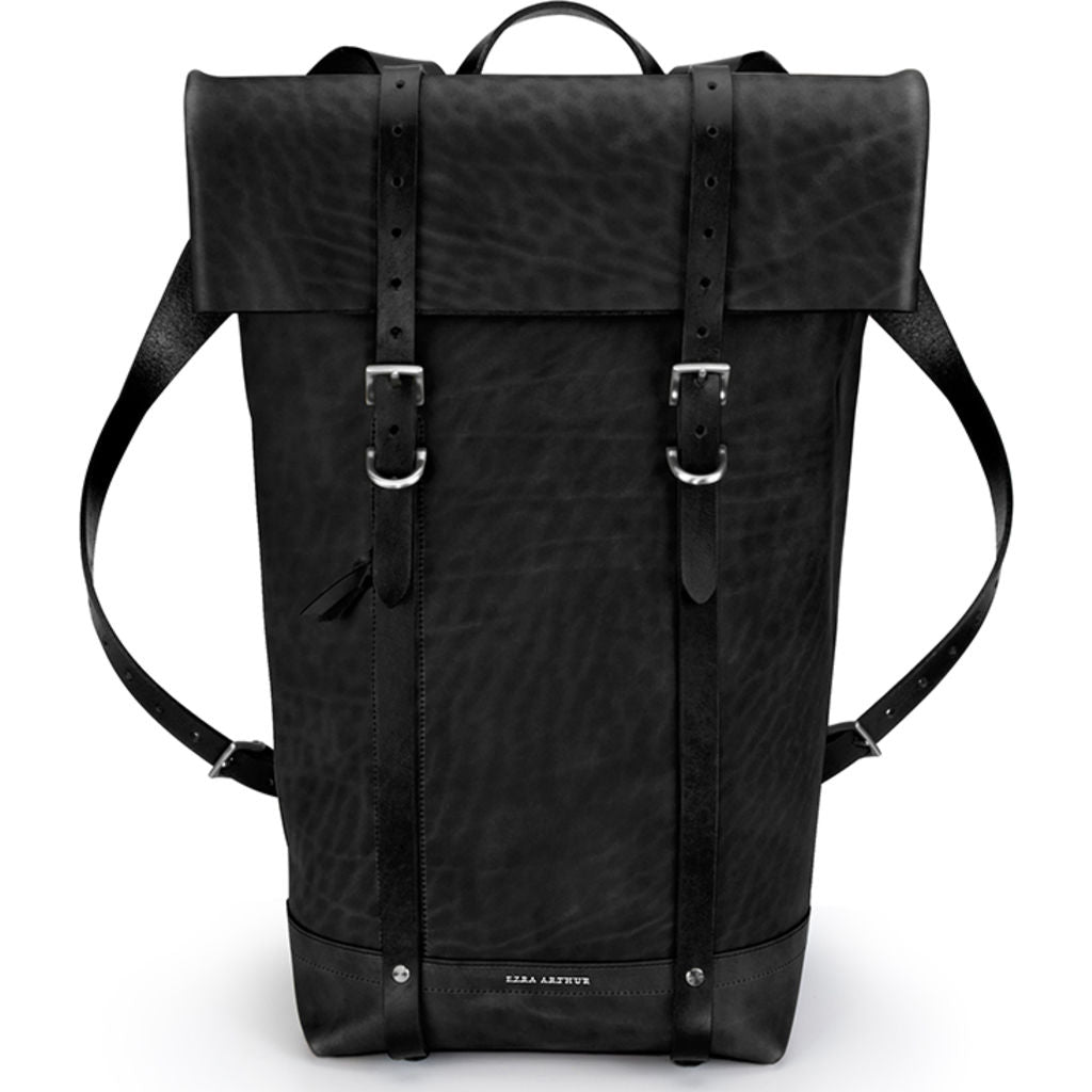 Ezra Arthur Keystone Rucksack Backpack | Jet & Nickel