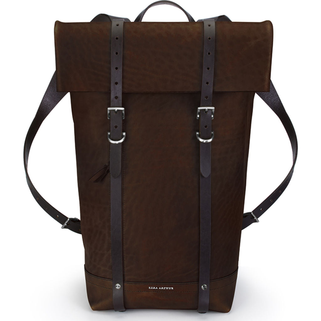 Ezra Arthur Keystone Rucksack Backpack | Malbec & Nickel