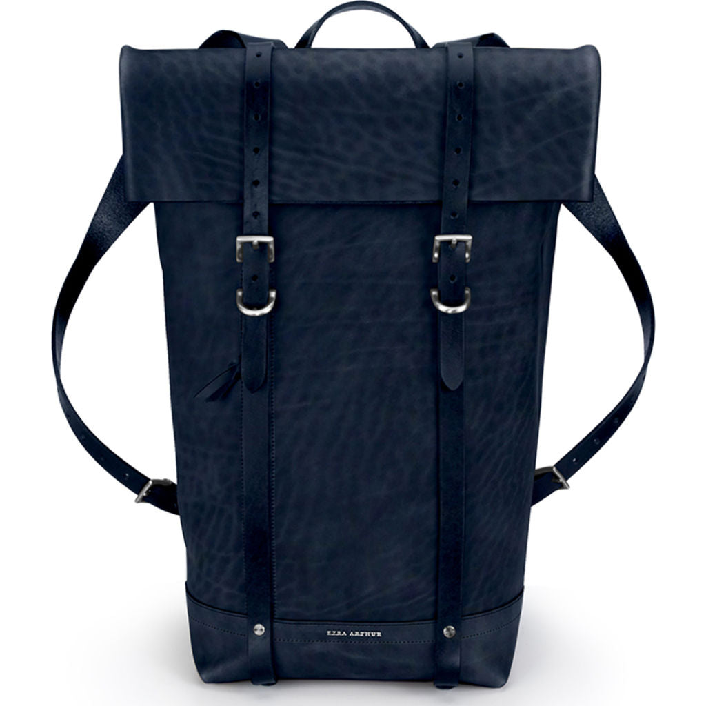 Ezra Arthur Keystone Rucksack Backpack | Navy & Nickel