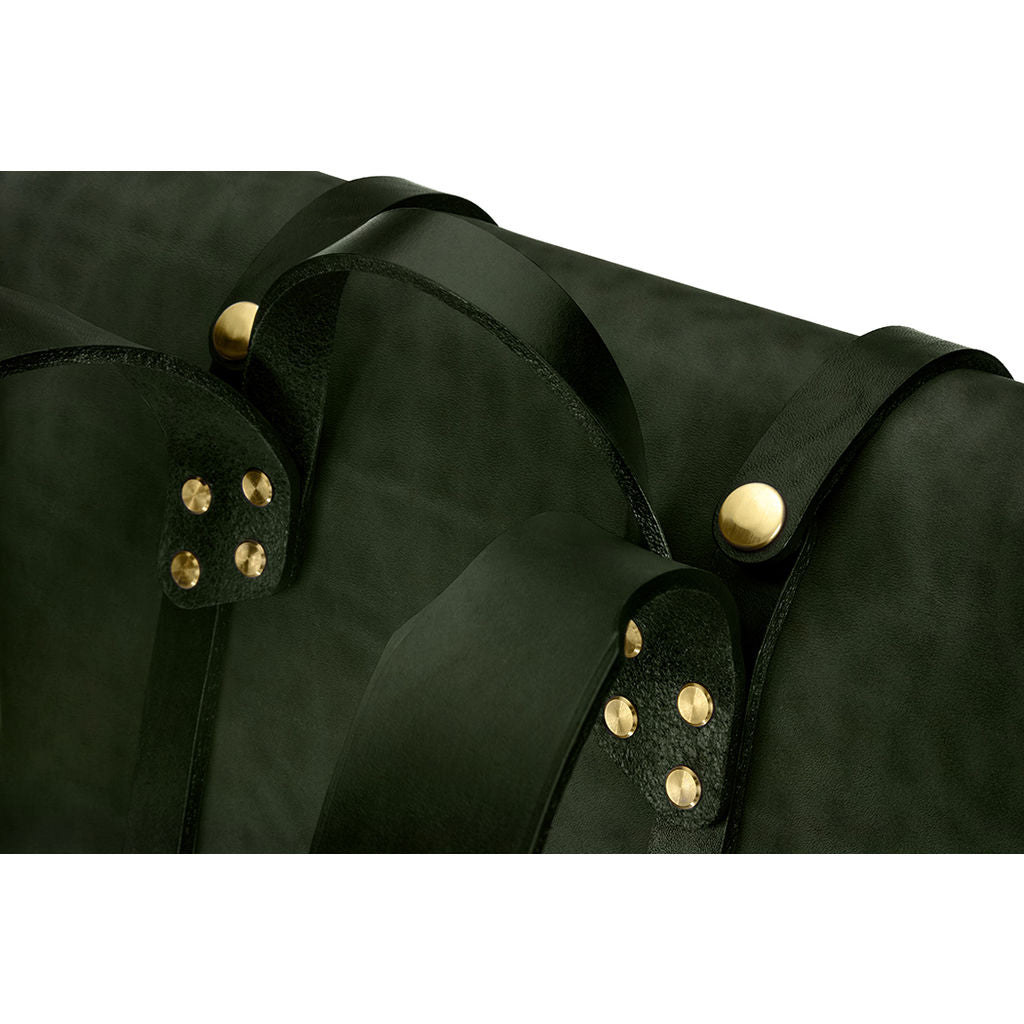 Ezra Arthur Keystone Rucksack Backpack | Green & Brass