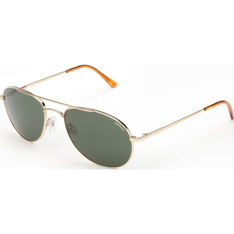 Randolph Engineering Crew Chief 23K Gold Plated Sunglasses | AGX Green Skull