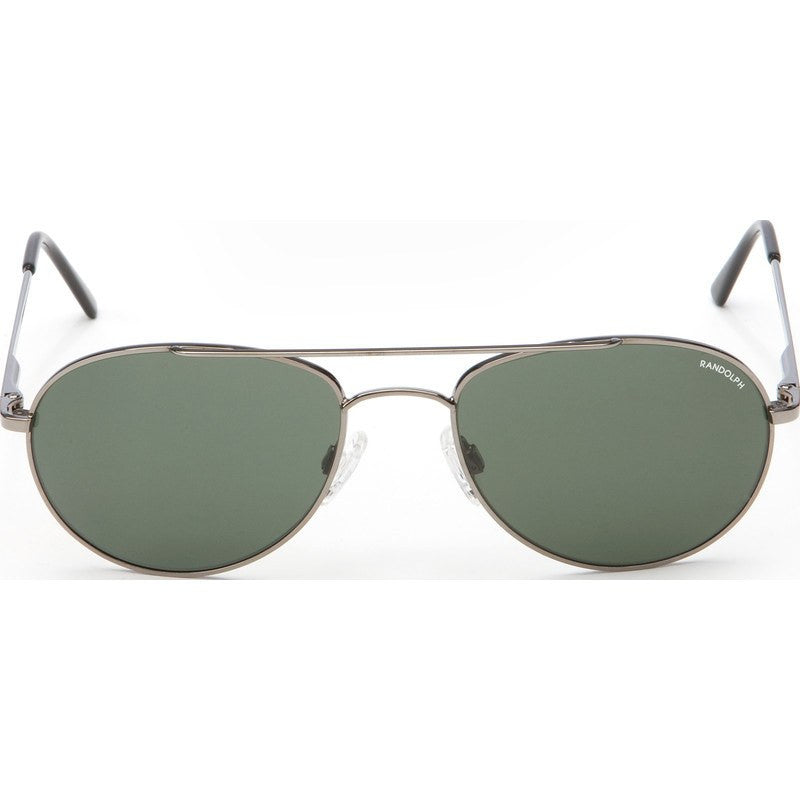 Randolph Engineering Crew Chief Gunmetal Sunglasses | AGX Green Skull