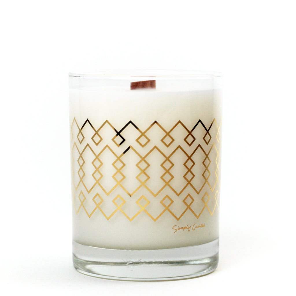 Simply Curated The Cocktail Collection 22K Gold Soy Candle | Coconut Shea