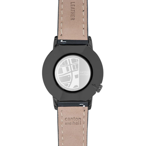 Canton and Hall Downtown Daytripper Watch| Black Leather-CH40-005