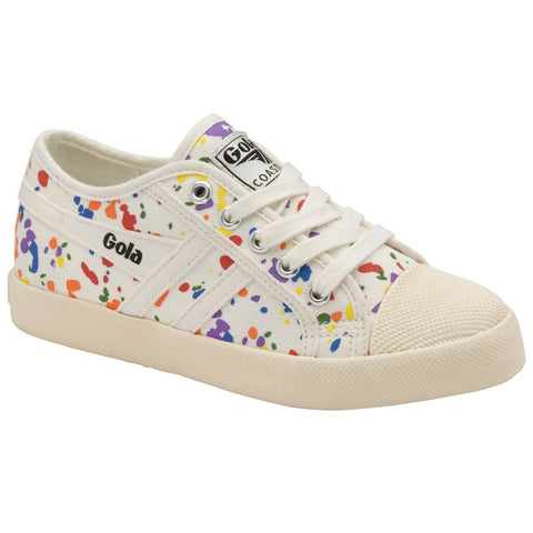 Gola Kid's Coaster Splatter Sneakers | Off White/Multi