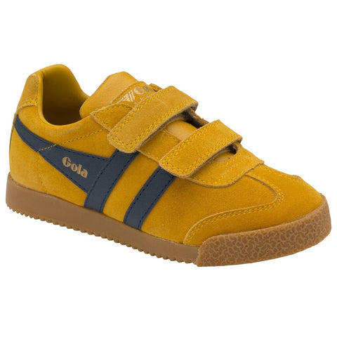 Gola Kid's Harrier Velcro Sneakers | Sun/Navy