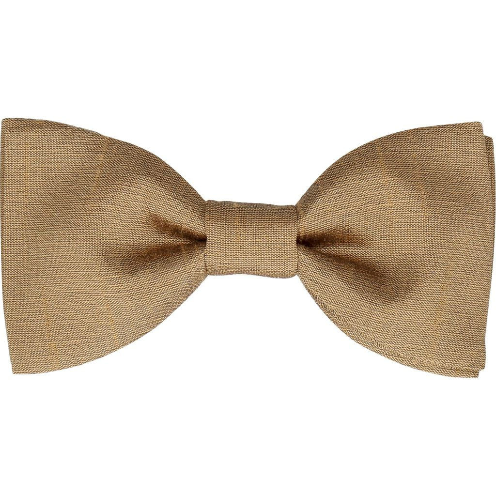 Mrs. Bow Tie Faux Silk Bow Tie | Antique Gold