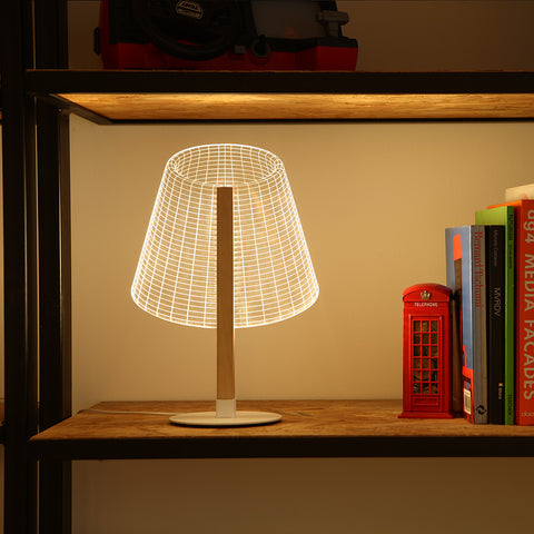 Studio Cheha Classi LED Table Lamp | Iron/Birch/Acrylic