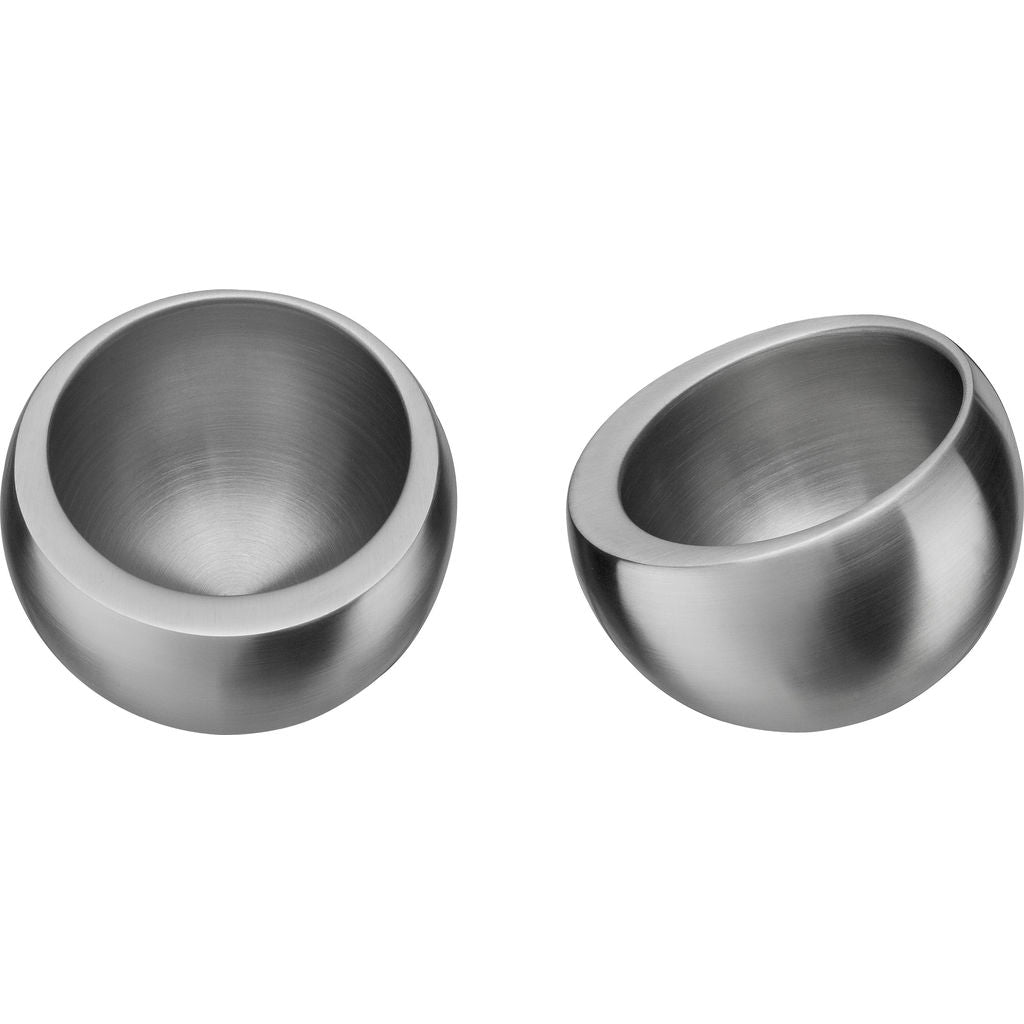 Carl Mertens Pair of Balance Cups | Satin Stainless Steel