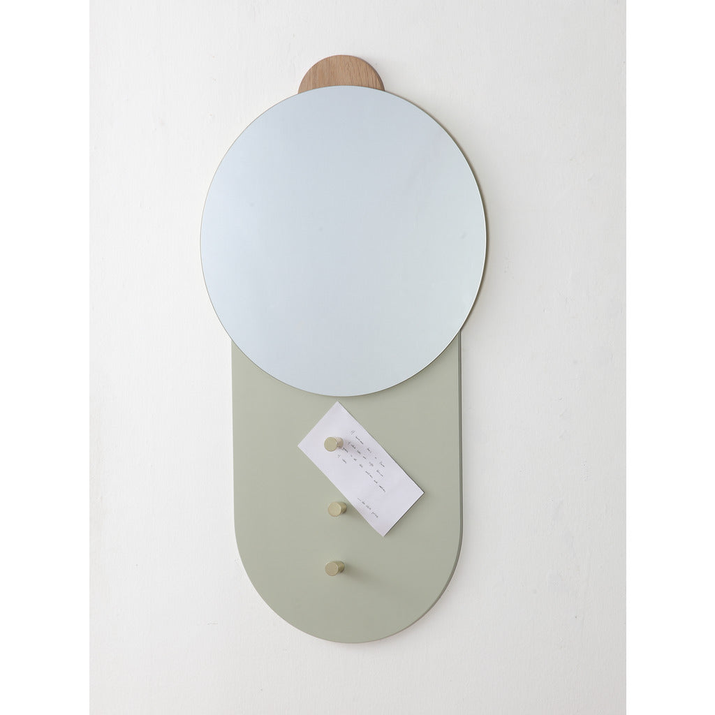 Camino Barbera Wall Mirror | Grey/Yellow/Waxed Oak