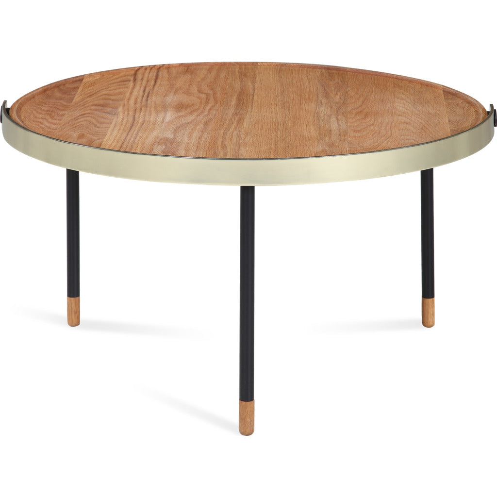 Camino Carmel Coffee Table | Waxed Oak/Brass/Black