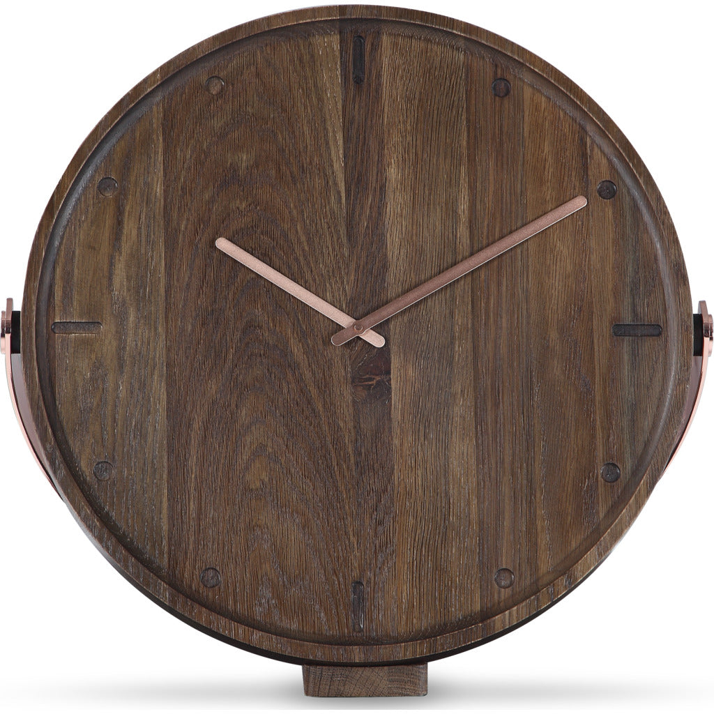 Camino Clara Clock | Smoked Oak/Copper