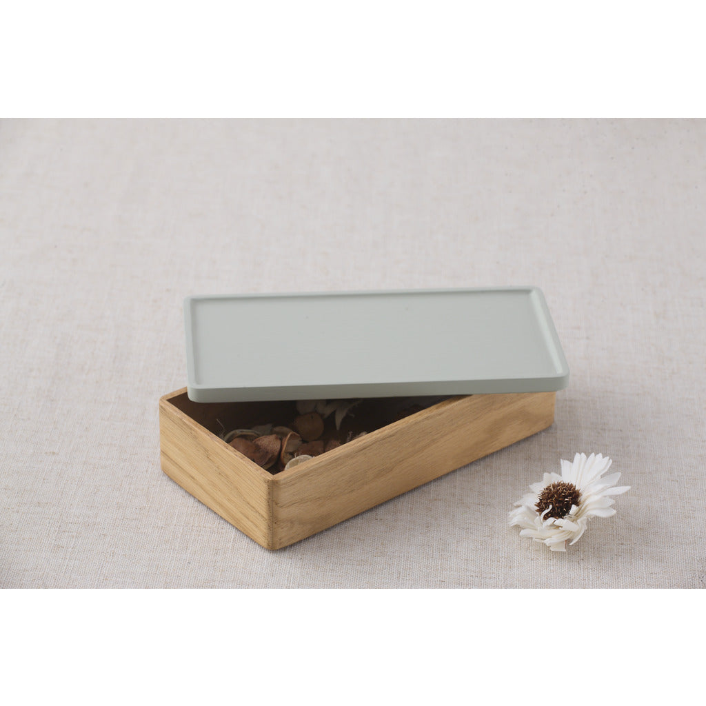Camino Rey Container | Waxed Oak/Grey Lid