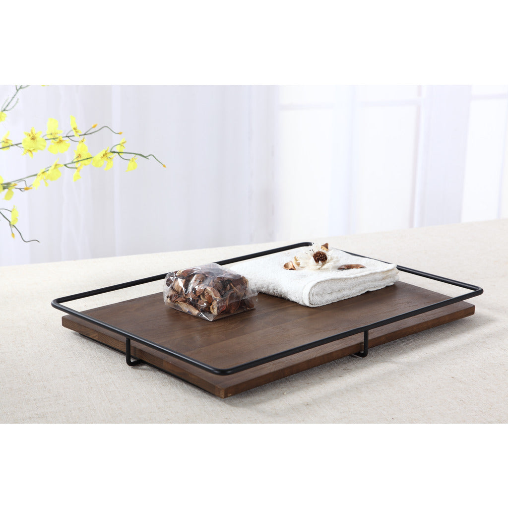 Camino Jose Tray | Smoked Oak/Black