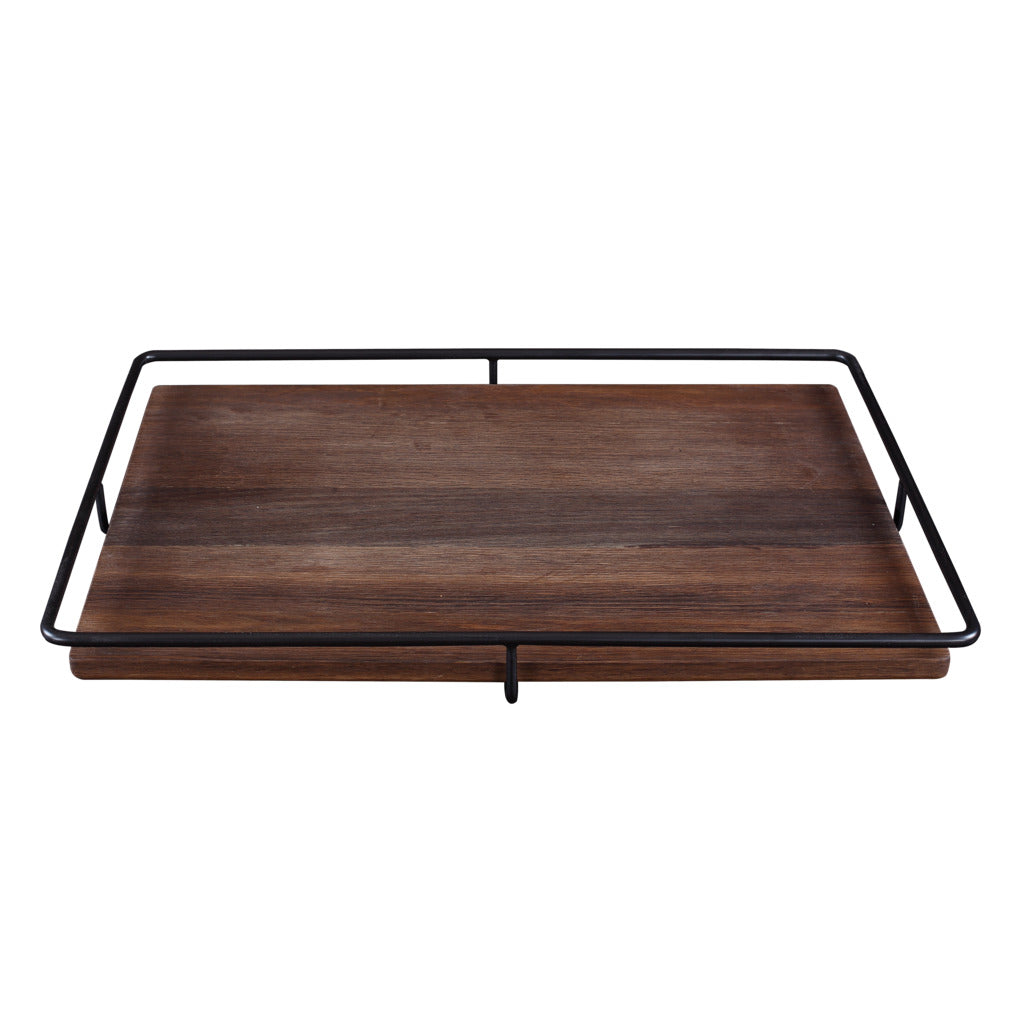Camino Jose Carving Board/Tray | Smoked Oak/Black- CM12080