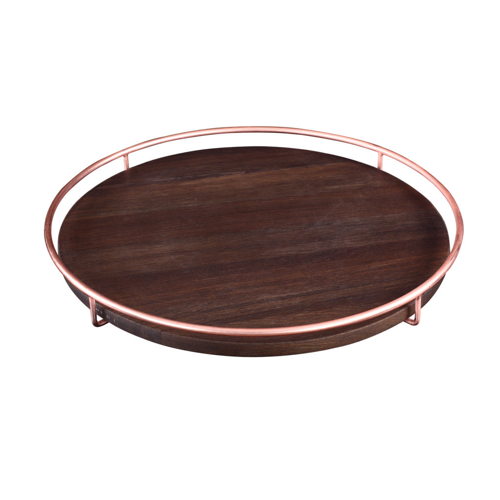 Camino Jose Carving Board/Tray | Smoked Oak/Copper- CM12081