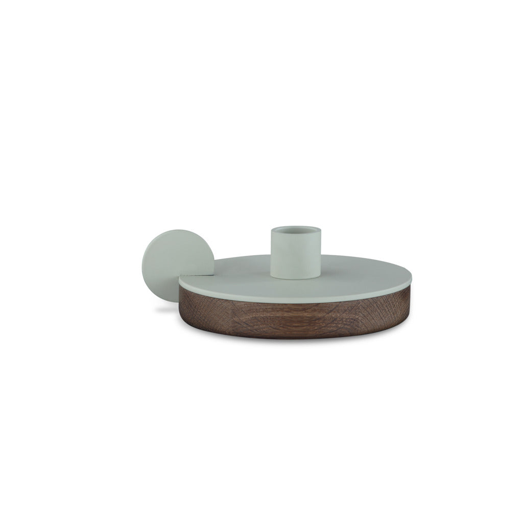 Camino Ines Candlestick Holder | Smoked Oak/Grey- CM12086
