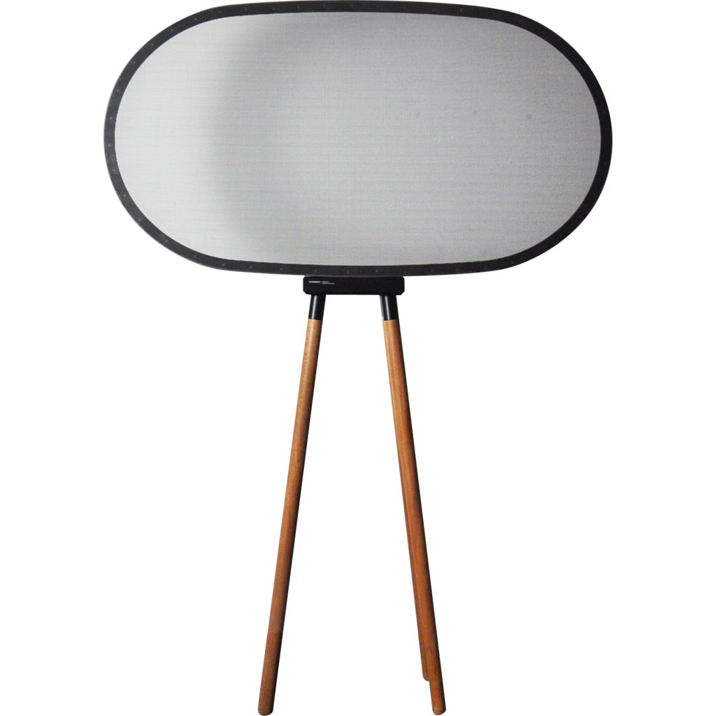 Camino Interlaced Oval Floor Lamp | Black/Walnut