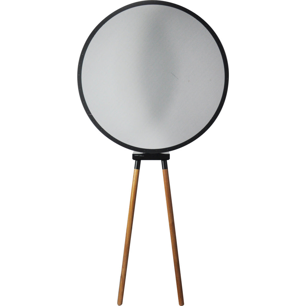 Camino Interlaced Circle Floor Lamp | Black/Walnut