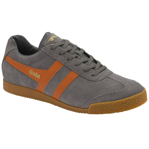 Gola Men's Harrier Sneakers | Ash/Moody Orange