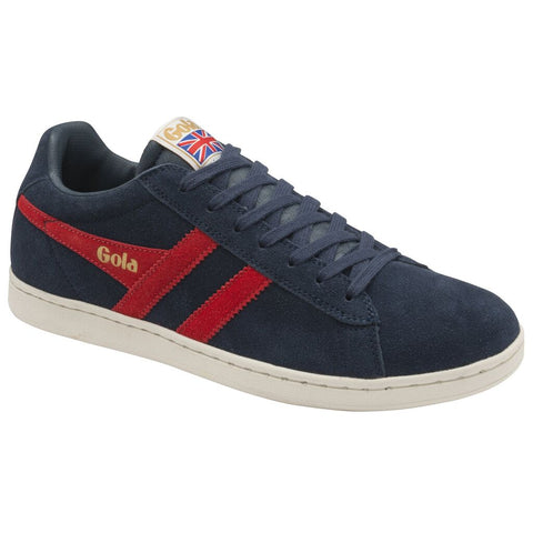 Gola Men's Equipe Suede Sneakers | Navy/Red