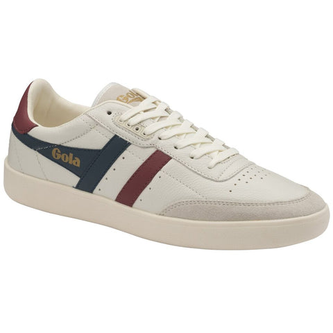 Gola Men's Inca Leather Sneakers | Off White/Vintage Blue