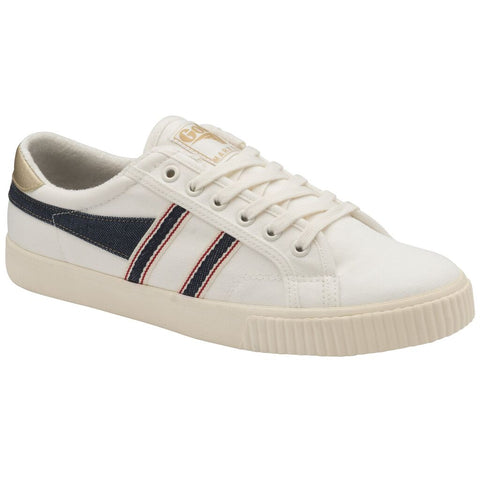 Gola Men's Tennis Mark Cox Selvedge Sneakers | Off White/Indigo