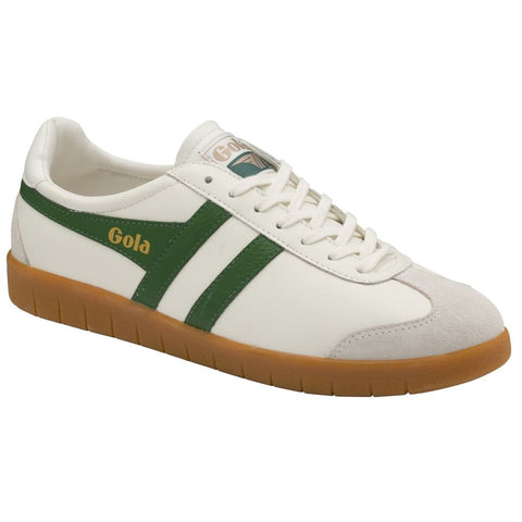 Gola Men's Hurricane Leather Sneakers | Off White/Green