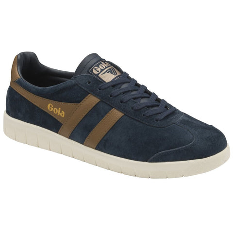 Gola Men's Hurricane Suede Sneakers | Navy/Tobacco